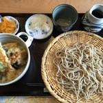 さっぽろ玄庵 - えび天丼ミニせいろセット、1100円です。