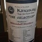 ブルーラベル - 2杯目:Miltonduff, 2005 43% Kingsbury