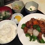 46482894 - 黒酢鶏定食・780円
