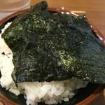 46487653 - 【2016.1月追加】ご飯にスープに浸した海苔を乗せて