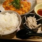 和夢茶Cafe - 本日のランチ  メインはエビチリ卵とじ