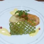 庭の食卓 四季 - 海老・貝柱・鯛のポワレ