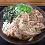うどんの田 - 肉ぶっかけ冷2玉(*´д`*)620円
