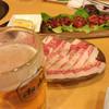 カネショウ - 料理写真:ユッケとコオネ…そして生中(笑)