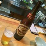 もりもと - もりもと(岡山県岡山市磨屋町)ビンビール(大)540円