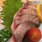 もりもと - もりもと(岡山県岡山市磨屋町)鰆(サワラ)刺