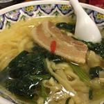 中国ラーメン揚州商人 - 豚南蛮刀切麺!刀切麺は伸びるとむちむちになって旨い!