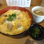 46498386 - 鶏もつ煮親子丼(16-01)