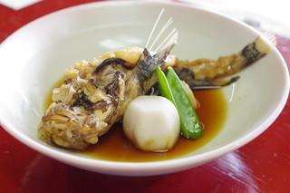 魚信旅館 - オコゼの煮付け