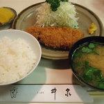 とんかつ さっぽろ 井泉 - ロースカツ定食