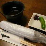 4650781 - お通しの蕎麦味噌ともろきゅう