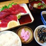 さしみ亭 - さしみ定食(鰹)