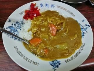 生駒軒 - 半カレー 270円