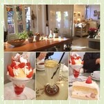 ラパン・アジル - 料理写真:苺ショートと生レモンスカッシュにしたよん٩(ˊᗜˋ*)و✧*。パフェは友達の