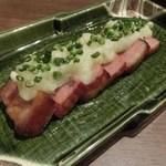 炙り炉端 山尾 - 自家製ベーコンステーキ:680円
