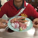 道頓堀 - 刺身定食の刺身