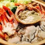 がっしょ出雲 - 境港産 紅ズワイ蟹と牡蠣の琥珀鍋