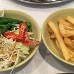 マサラアート - サラダ&フライドポテト