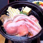 国民宿舎 鵜の岬 - (夕食) Cコース ローズポークすきやき