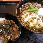 喜多そば - ミニ肉丼セット 480円