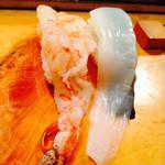 喜久寿司 - えび、いか