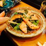 平寿司 - 2016/01/16(土)炙りサーモンサラダ。絶品。
