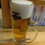 いきなりそば - 生ビール