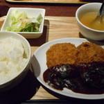 46529407 - 肉バルのメンチカツ定食