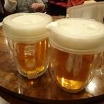 中国料理 餃子菜館 - 2015年12月 生ビール(飲み放題を選択)