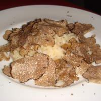 トラットリア フィオーレ - サマートリュフのリゾット(イタリア米をつかったリゾットは絶品です)