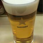 才 - ビール。