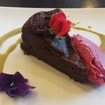 ブラッスリー ソレイユ - チョコレートケーキ