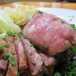 牛たん料理 雅 - たんたたきはレアなピンク色がいいですね