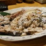 海鮮酒場 海ごはん しまか - どんこは、ほぐして肝と混ぜてくれます・・絶品。