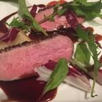 鴨肉のロースト ラズベリーソース