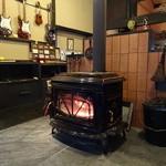茶房こでまり - このストーブが暖かいんだから♪