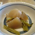 46545107 - 蕪と小松菜と油揚げの煮浸しアップ