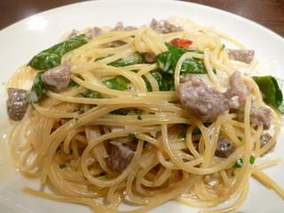 銀座イタリアン ORIGO - 牛肉とルッコラのクリームソーススパゲッティー