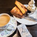 珈琲屋らんぷ - 料理写真:ソフトデニッシュセット(800円)