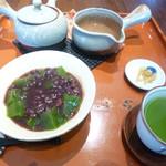 46550845 - 抹茶わらび餅ぜんざい