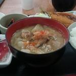 勘太そば - 豚汁定食