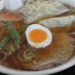 二番軒 - H28年1月、餃子ラーメン(670円)