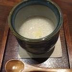 糀屋カフェ - 暖かい甘酒