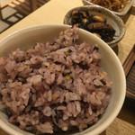 さち福や 天王寺ミオプラザ館店 - ご飯は白ご飯か雑穀米のどちらかをチョイスできまぁす♪