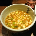 麺屋武蔵 二天 - スープお代わり1回無料です。勿論しました。