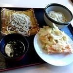Nousonresutorandekinosato - 蕎麦、うどん、かき揚げ天ぷら(2015/12)