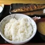 ふしみ食堂 - 焼魚(サンマ)定食