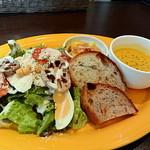 46575988 - クレープランチのサラダ・パン・スープ