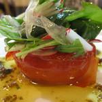 あづまや - 料理写真:焼きトマトのサラダ
