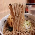 箱根そば - 超厚切りハムカツ丼セット(660円)